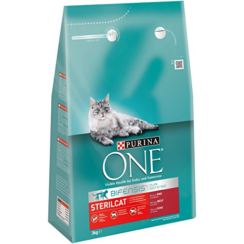 Purina ONE BIFENSIS Sterilcat Katzentrockenfutter, für kastrierte Katzen, gesunder Stoffwechsel (4 x 3kg)