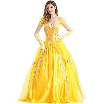 OwlFay Disfraz de Princesa Belle para Mujer Beauty and Beast ...