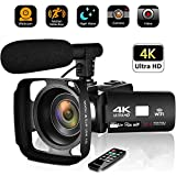 4K Camcorder Video Camera, Vloging Camera for YouTube 30MP Camcorder 3.0 Inch Touch