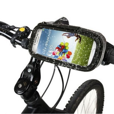 ElettrOutlet Supporto impermeabile da manubrio per Bicicletta/Bici / Moto specifico per Samsung Galaxy S4 SIV i9500