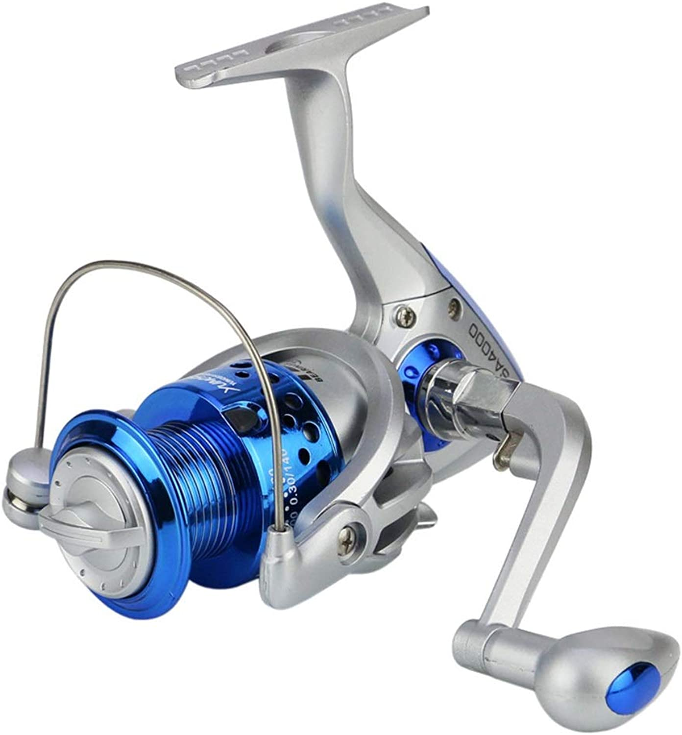Fishing Wheel 10007000 Fishing Reel Fish Wheel Fish Wheel Fishing Reel Fishing Wheel Plastic Head Silver blueee Professional Fishing Tools (Size   2000)