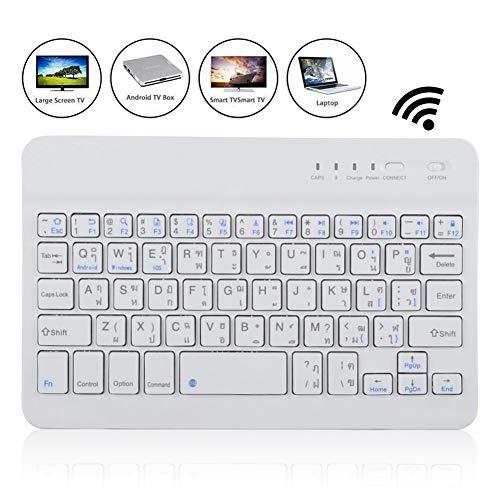 Kabellose Bluetooth-Tastatur, ultraschlanke, multifunktionale Bluetooth-Tastatur in thailändischer Sprache Kompatibel mit Tablet PC Smartphone für iOS für Windows für Android 40-Stunden-Arbeit