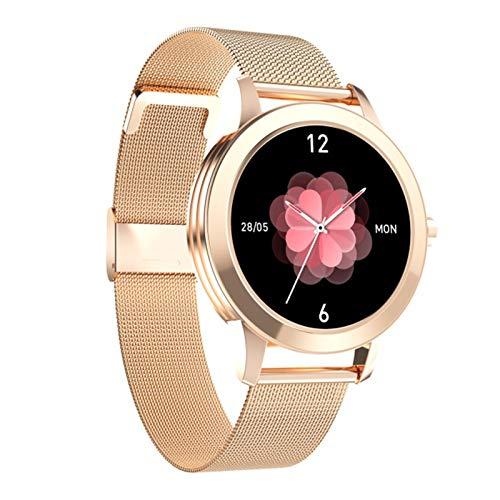 HQPCAHL Smartwatch, Reloj Inteligente Impermeable IP68 para Mujer, Pulsera De Actividad Inteligente con Monitor De Sueño Contador De Caloría Pulsómetros Podómetro para Android iOS,Oro