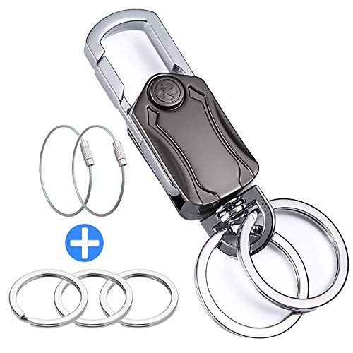 Key Ring Key Chain Bottle Opener, Heavy Duty Car Key Chain with Stainless Steel Keychain Cable and Key Rings for Men Women