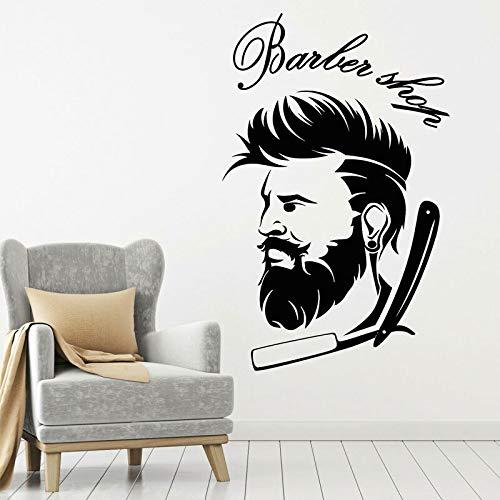 Friseur Ikone Männer Rasieren Friseur Aufkleber Wanddekoration Friseur Friseur Aufkleber 57x90cm