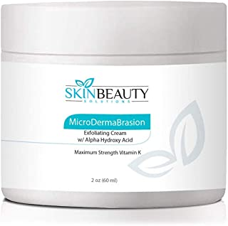 4 oz Micro DermaBrasion Cream with Glycolic Acid & MicroDermaBrasion Aluminum Oxide Crystals-for Face Use -120 grits, Pure White Micro Derma Brasion Crystals-Acne Wrinkles, Dull Skin,Blackheads,Scars