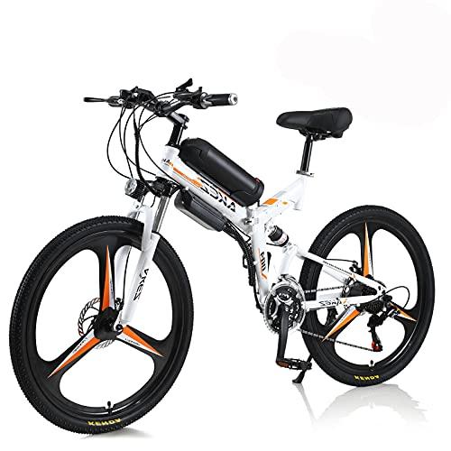 Hyuhome E-Bike für Erwachsene Männer Frauen, Faltrad 250W / 350W 36V 10A 18650 Lithium-Ionen-Batterie Faltbares 26