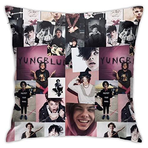 SISHUWUJING YungBlud funda de almohada tamaño 45 cm x 45 cm con estampado de belleza