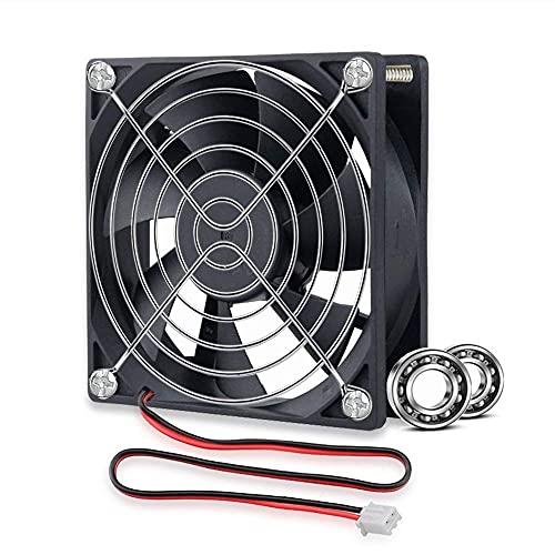 GDSTIME Ventilador de refrigeración de 92 mm 12 V doble rodamiento de bolas, enfriador de ventilador de 92 x 25 mm, 2 pines, DC sin escobillas, para disipador de calor de PC