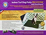 PoochPads PG16P24PSHS Indoor Turf Dog Potty PRO System Connectable Pad, Grass, Hike Shield with 2 Wall Pads