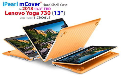 mCover Hard Shell Case for New 2018 13.3 Lenovo Yoga 730 (13) Laptop (NOT Compatible with Yoga 710/720 / 910/920 Series) (Yoga 730 Orange)