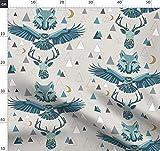 Geometrisch, Wolf, Adler, Berge, Tiere Stoffe - Individuell