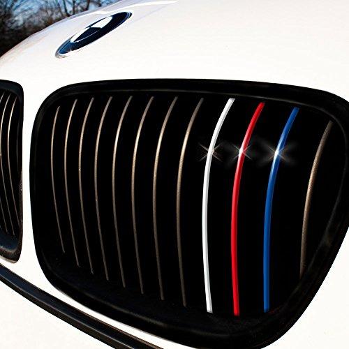 Motoking® Nierenaufkleber - Standard - 24-teiliges Autoaufkleberset, 4 Farben im Set (Dunkelblau, Rot, Weiß, Hellblau)