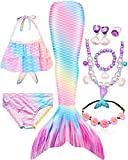 Mermaid Tails for Swimming for Girls Swimmable Swimsuit...