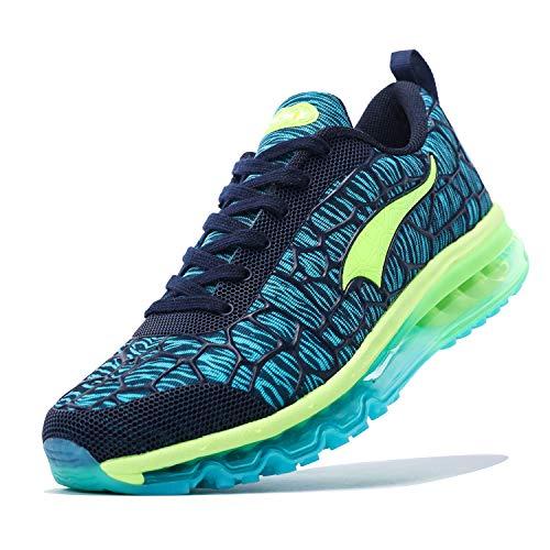 ONEMIX Zapatillas de Running para Hombre Mujer Zapatillas de Deporte Transpirables Casual Zapatos Gimnasio Correr Sneakers 1156 Blue 43