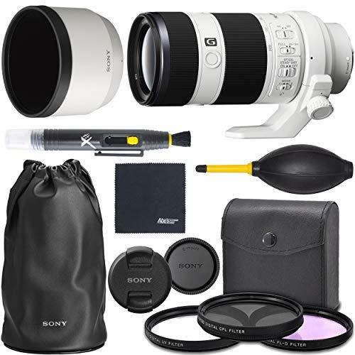 Sony FE 70-200mm f/4 G OSS: Full Frame Alpha Mirrorless Zoom Telephoto Lens (SEL70200G) + AOM Pro Starter Bundle Kit - International Version (1 Year AOM Warranty)
