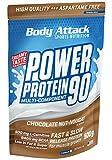 Body Attack Power Protein 90, Chocolate Nut Nougat, 500g, 5K Eiweißpulver mit Whey-Protein,...