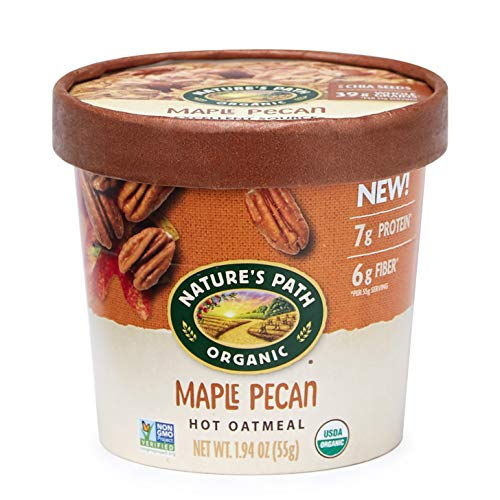 Nature's Path Organic Oatmeal Cup, Maple Pecan, 1.94 Oz Container (Pack of 12)