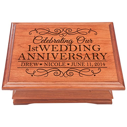 LifeSong Milestones Personalized 1st Anniversary Chest