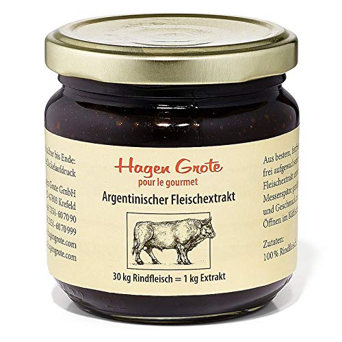Hagen Grote Argentinischer Fleischextrakt, 250 mg Glas, hochkonzentriert, aus 100% Rindfleisch, für köstliche Suppen und Saucen