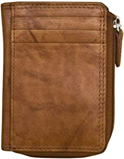 ili New York 7411 Leather Credit Card Holder (Antique Saddle)