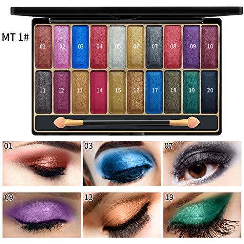 Cwemimifa Makeup Paletten Eyeshadow,Pailletten Pink Eye Shadow Glitter Shiny Lidschatten Golden...