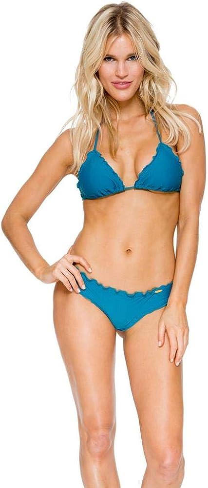 Luli Fama Women's Standard Cosita Buena Wavey Brazilian Ruched Back Bikini Bottom