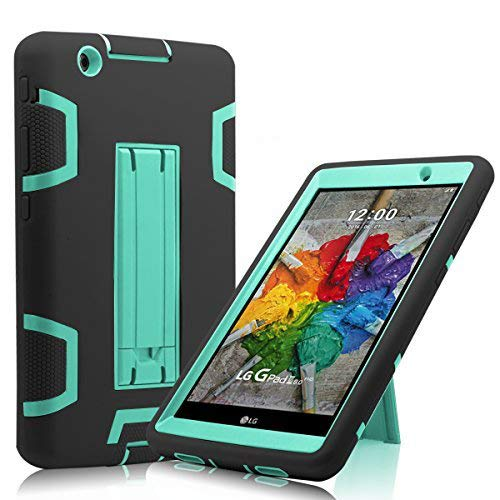 Cherrry for G Pad X 8.0 / LG GPad III 3 8.0 Case,Shock Proof [Impact Resistant] [Corner Protection] [Built-in Bracket] Protective Cover for LG G Pad X 8.0 / LG GPad III 3 8.0 Inch Tablet(Black/Green)