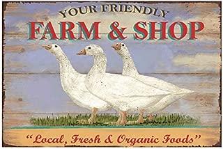+Urbano Farm & Shop Local Fresh & Organic Vintage Retro Tin Sign Home Pub Bar Deco Wall Decor Poster Size 8