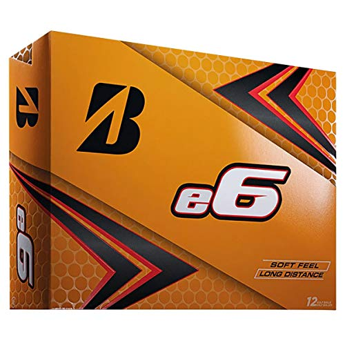BRIDGESTONE 2019 e6 Golf Balls (One Dozen), White