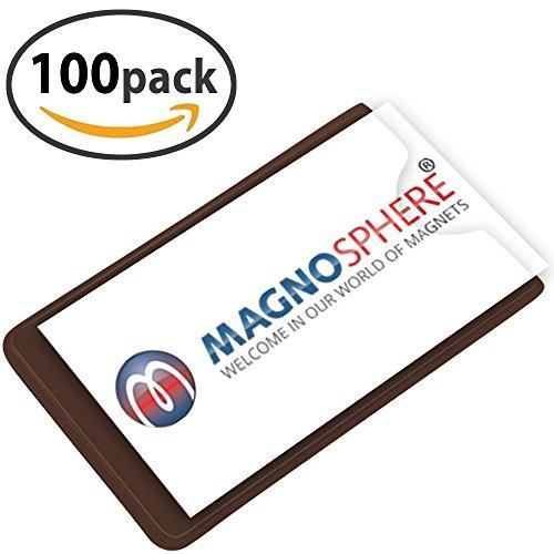 Magnetischer Etikettenhalter Einstecktasche für Labels/Etiketten, Größe 10 x 6cm - Set mit 100 Stück