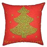 Tu Sonrisa Color sólido decorativo lino manta funda de almohada Funda de cojín almohada para sofá sofá cama, 18x 18inches