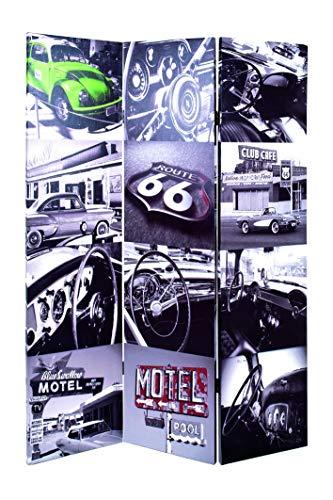 Haku-Möbel 30953 Paravent 120 x 3 x 180 cm, bunt