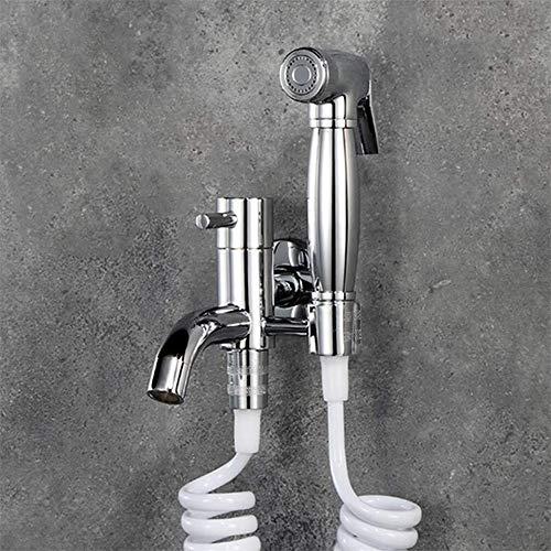 Messing Hand-held Bidet Kraan Set Een Into Twee Kraan Enkele Koude Mop Zwembad Reinigingsapparaat Bidet Suit Multi-functie Met Spuitpistool