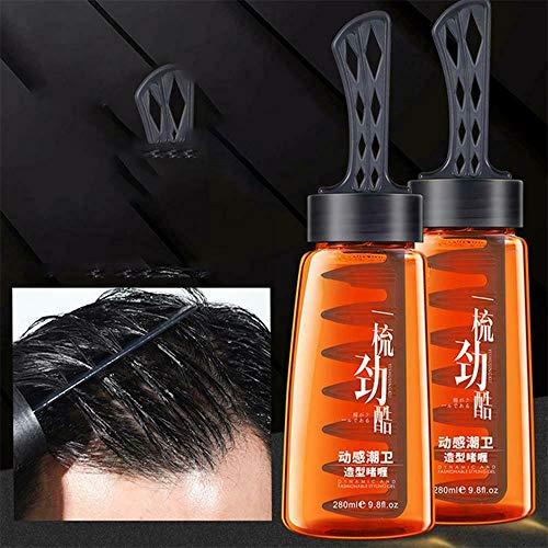 Mannenolie Hoofd Artefact Modelleren Haargel, Haarstylinggel Voor Krullend Haar, Kam Mannenolie Haargel Haarwas, Verzorgende Haarlak Voor Mannen, Haarwax-instelling (2 STUKS)