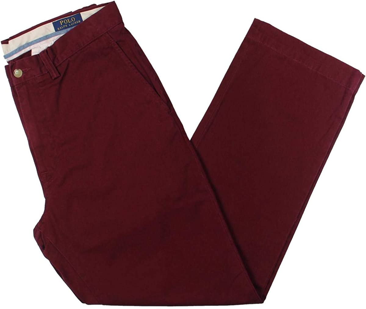 Ralph Lauren Mens Classic Bedford Casual Chino Pants, Red, 36W x 30L
