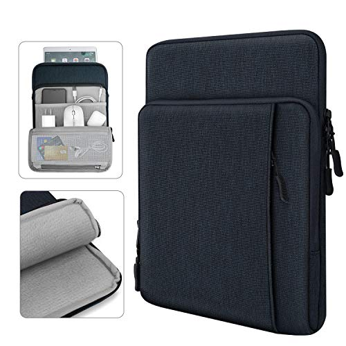 Dadanism 11 Zoll Tablet Sleeve Hülle Kompatibel mit New iPad 10.2 2020/2019, iPad Air 4 10.9 2020, iPad Pro 11 2020, iPad 9.7/Air 10.5, Wasserdicht Mehrere Taschen für Stift Smart Keyboard - Indigo