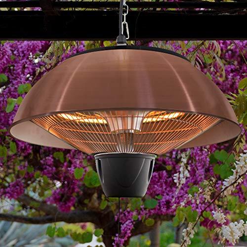 Firefly 1.500 Watt Infrarot-Heizstrahler (Halogen) Terrassenheizung, Deckenmontage, kupferfarben - 6