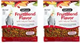 ZuPreem FruitBlend Flavor Pellets Bird Food for Medium Birds, 2 lb (2-Pack) - Powerful Pellets Made in USA, Naturally Flavored for Cockatiels, Quakers, Lovebirds, Small Conures