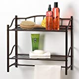 Creative Bath Products 20063-ORB Complete Collection 2 Shelf Wall Organizer with Towel Bar, Oil Rubbed Bronze