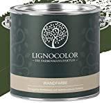 Lignocolor Wandfarbe Innenfarbe Deckenfarbe Kreidefarbe edelmatt 2,5 L (Forest)