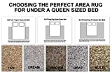 Choosing The Perfect Area Rug for Under A Queen Size Bed. Multiple Colors and Size Options to Choose from (8x10, Gray)