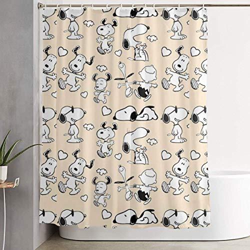 N / A Duschvorhang Dekor Cartoon s-noopy Home Decor Duschvorhang, zeitgenössische Badezimmer Vorhang, Leicht zu pflegene Stoff Duschvorhänge.