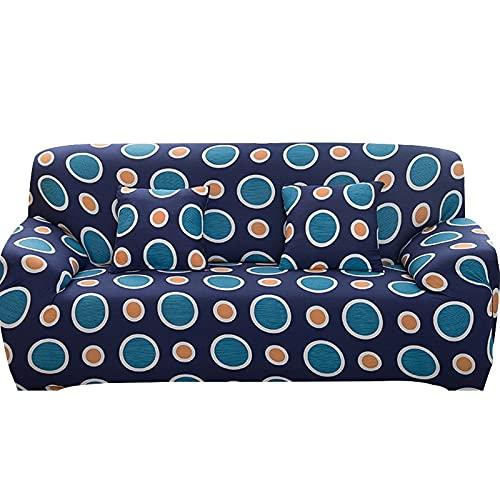 WXQY Funda elástica para sofá con Todo Incluido, Funda para sofá en Forma de L Funda para sillón para Sala de Estar, Funda Protectora para Muebles A10 de 3 plazas