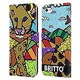 Head Case Designs sous Licence Officielle Britto Club Lion Illustrations Abstractes Coque en Cuir à...