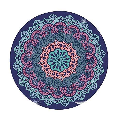 KOXG-S Alfombra de Yoga Yoga Mat Redonda Profesional Alfombrilla Antideslizante Lana Meditación Impreso Mat Esteras