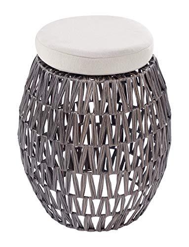 BuyDream 2er-Set Rattan-Hocker/Stühle Balba 130 Dunkelbraun handgefertigt Unikat in Bast-Optik für den Innen- und Außenbereich geeignet Korpus per Hand geflochten ca. 42cm (L/T) x 31cm (B) x 45cm (H)