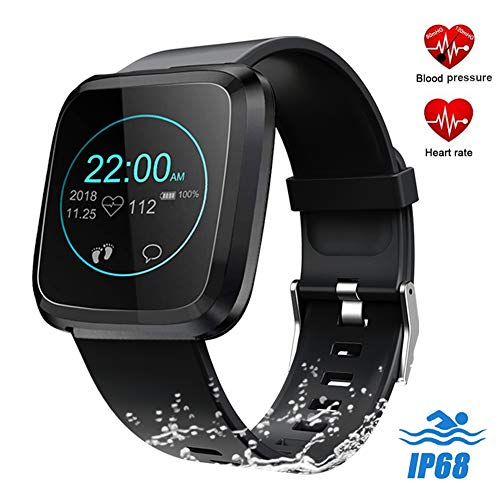 feifuns Fitness Tracker Watch, Upgraded Smart Watch Swim Water-Resistant HD Color Screen Smart Bracelet, HR/Blood Pressure/Calorie/Sleep Monitor Pedometer Activity Tracker for Android/iOS