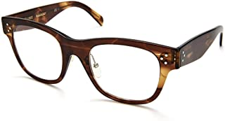 Celine Plastic Rectangular Eyeglasses 49 007B Havana Brown