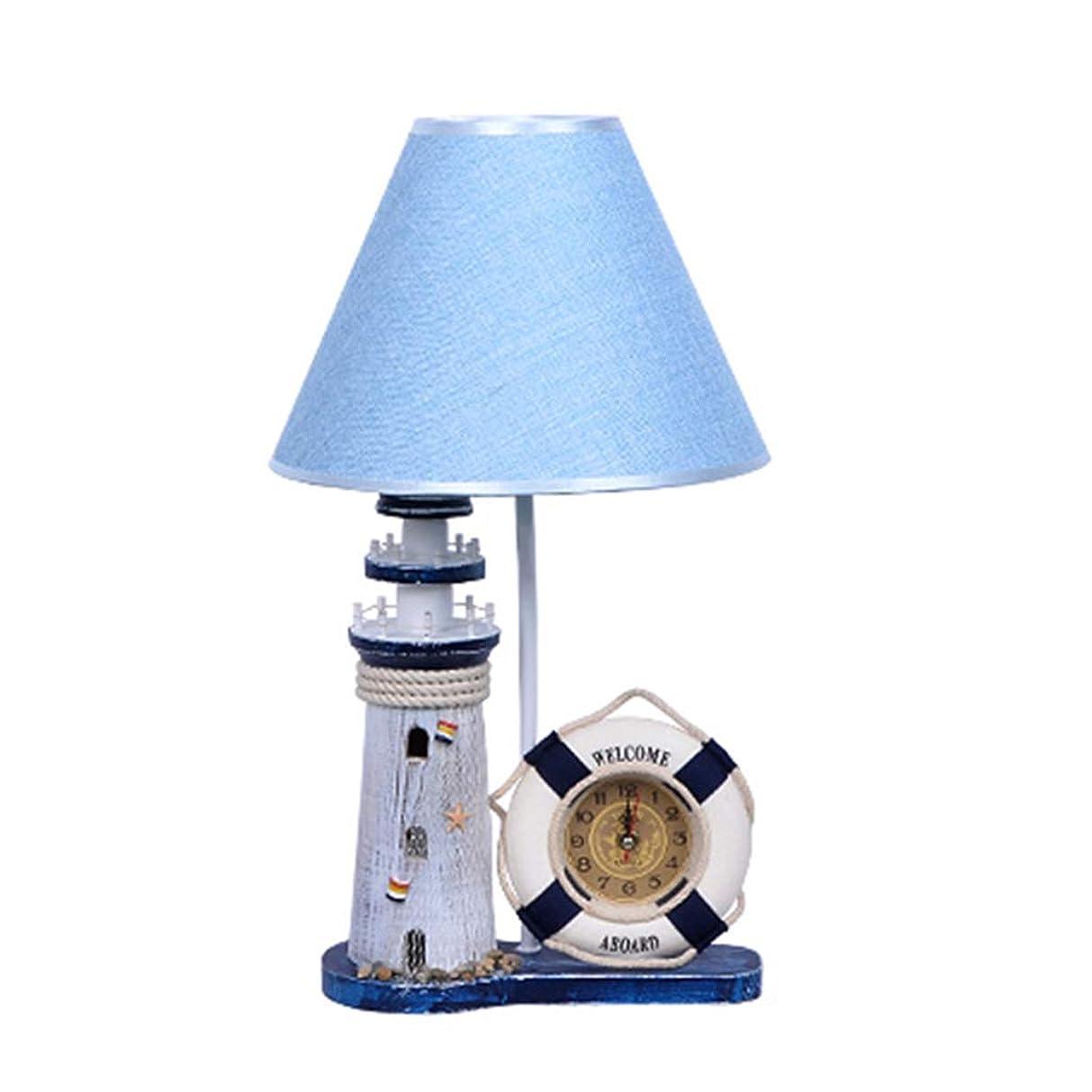 余剰特殊インチ照明/屋内照明/デスクライト クリエイティブ装飾キッズルームベッドサイドテーブルランプ、少年暖かいベッドルーム読書ランプ、スタイリッシュな漫画調のデスクランプ、LED省エネランプ (Color : Blue, Size : 27cm*46cm)